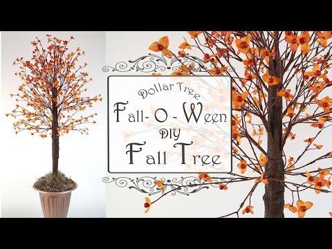 Fall Tree DIY / Dollar Tree DIY / Tabletop Fall Decor