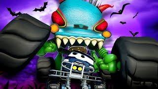 Scary Car Chase | Haunted House Monster Truck Vs Monster Truck Dan | Car Cartoons by Kids Channel