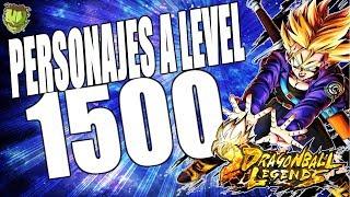 PERSONAJES A LEVEL 1500! /// DRAGON BALL LEGENDS EN ESPAÑOL