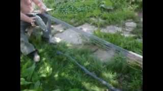 Сетка для огурцов, плетение.(часть1)(Для выращивания огурцов рекомендуют сетку. Сетку можно сплести своими руками, челнок можно изготовить..., 2013-07-29T05:14:26.000Z)
