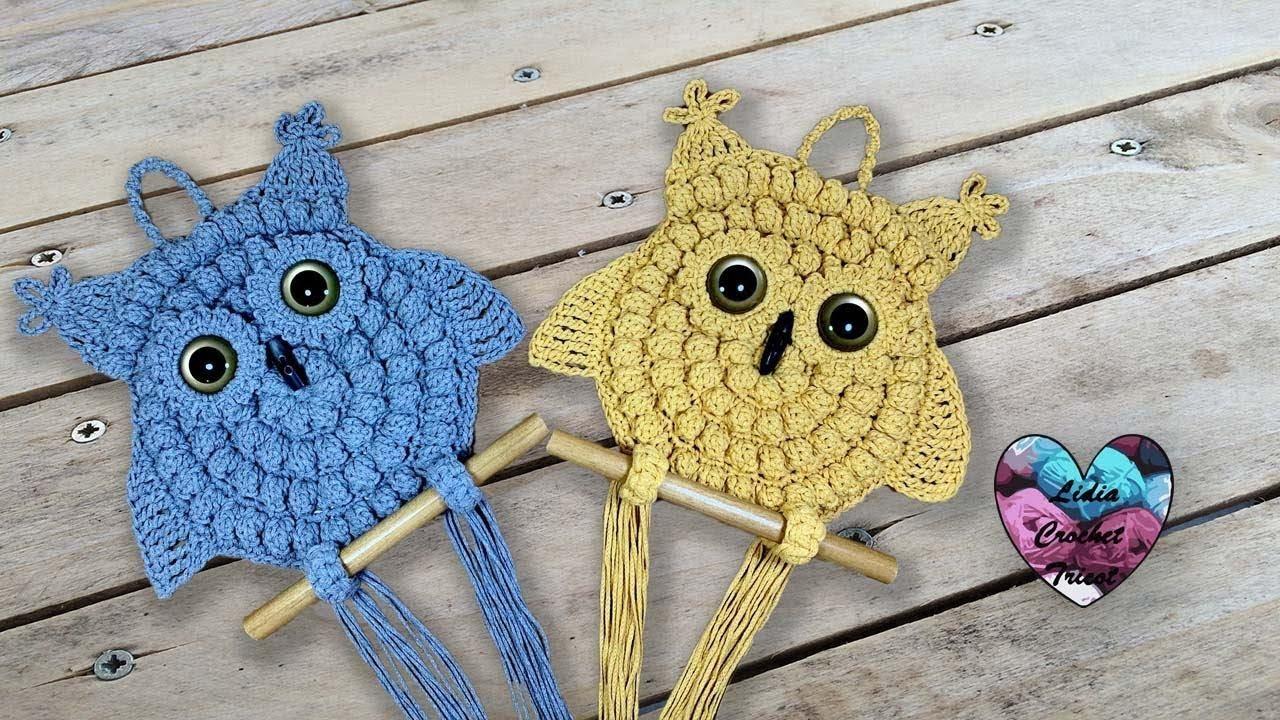 Hiboux Crochet Tutoriel Au Crochet Présenté Par Lidia