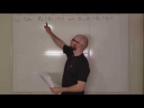 Group Lecture 9.2 The Schreier Refinement Theorem