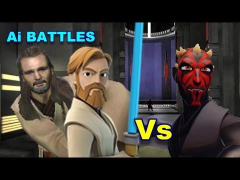 Ai battles - Obi wan and Qui Gon v Darth Maul - Jedi Academy |