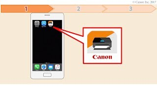 Enabling printing from a smartphone (iOS) - 1/2 (TS300 series)