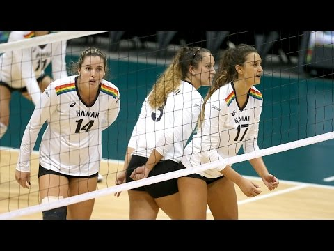Rainbow Wahine Volleyball 2016 - #13 Hawaii Vs CS Fullerton