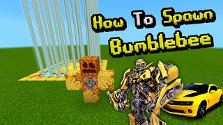 How To Spawn BUMBLEBEE in Minecraft Pocket Edition