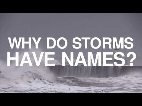 Why are storms given names?