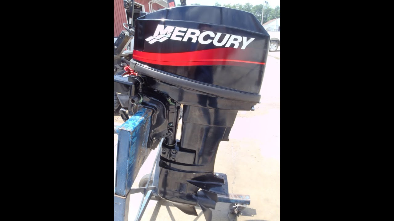 6m3943 used 2001 mercury 20m 20hp 2 stroke tiller outboard Two stroke outboard motors