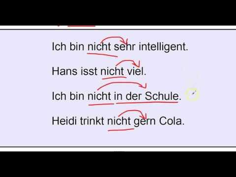 German Grammar: Negation Part 2, nicht