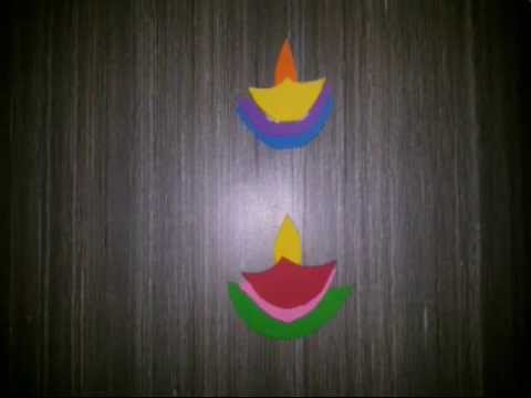 Diwali 2015 wall decoration idea diy youtube ppazfo