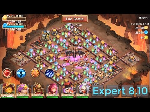 Guide For 3 Flaming Expert Dungeon 8(1-10) - Fantastic Heroes 2017