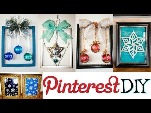 PINTEREST DIY | DIY CHRISTMAS FRAMES | DOLLAR TREE DIY