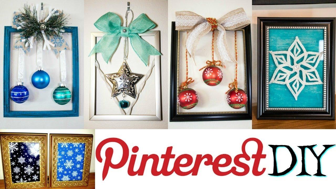 PINTEREST DIY   DIY CHRISTMAS FRAMES   DOLLAR TREE DIY - YouTube