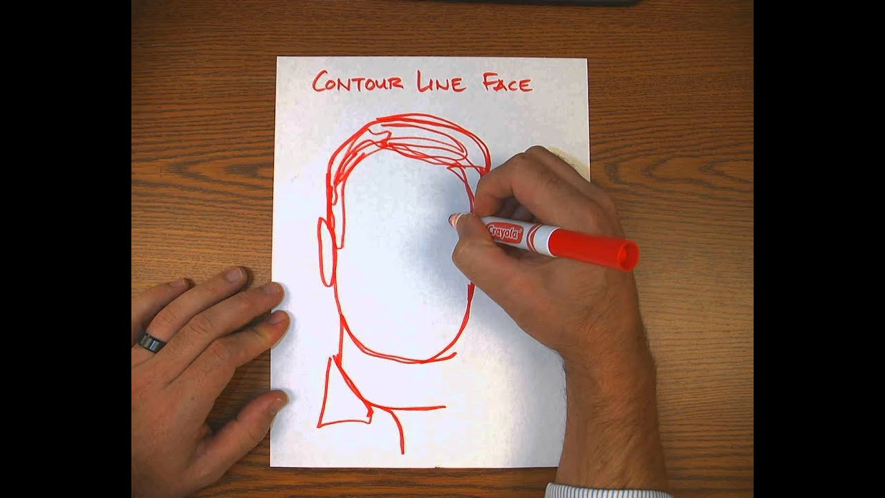 Contour Line Drawing Of A Person : Contour line face drawing youtube