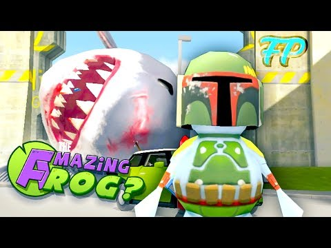 MEGALODON SHARK VISITS SWINDON, RIDES BLIMP - Let's Play Amazing Frog Funny Gameplay
