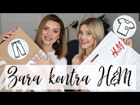 ZARA KONTRA H&M | PORÓWNUJEMY UBRANIA OBU MAREK: JEANSY, KOSZULKI, MARYNARKI | MarKa