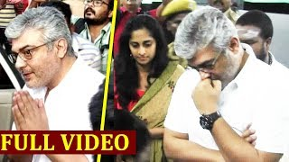 Thala Ajith at Vote Booth,  Ajith Kumar & Shalini Ajith voting at Thiruvamiyur Election 2019 | Vote