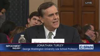 Law Professor Jonathan Turley Gives Opening Statement In Impeachment Inquiry