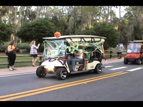 disney fort wilderness halloween golf cart parade 2010 part 1 of 2