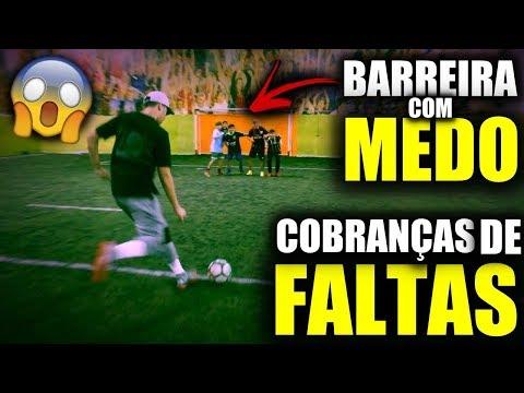 FAZER O GOL OU ACERTAR A BARREIRA??? - DESAFIO DE FALTAS!!!
