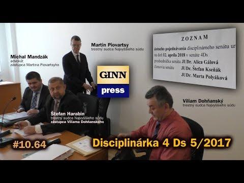 Disciplinárka 4 Ds 5/2017. Dohňanský, Piovartsy, Harabin, Mandzák a sudkyňa Gálová (full) #10.64
