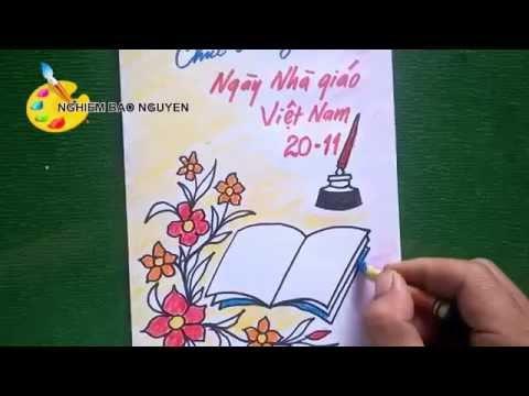 Vẽ thiệp 20 - 11/ Ngày Nhà giáo Việt Nam