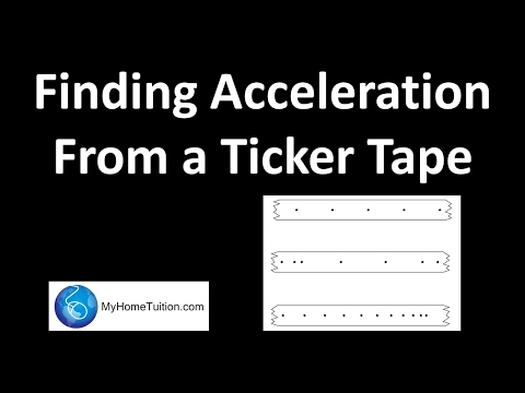 Finding Acceleration from a Ticker Tape | Force and Motion | Physics