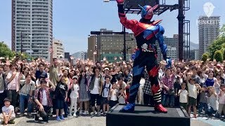 【福岡・北九州】北九州市役所前の目抜き通りを封鎖して、5月12日、「劇...