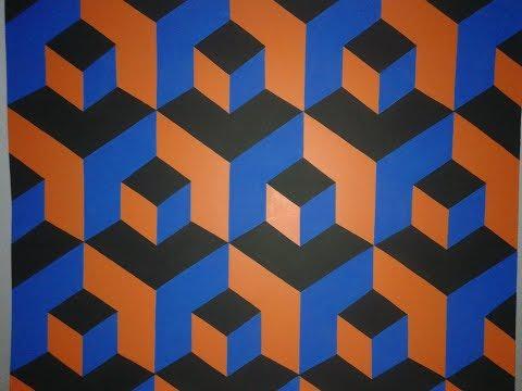 Pintura decorativa efeito 3d f cil de fazer youtube for Pintura decorativa efeito 3d