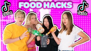 We TESTED Viral TIKTOK FOOD HACKS To See If They Actually Worked *SHOCKING* AZALEA CAREY  INDI STAR