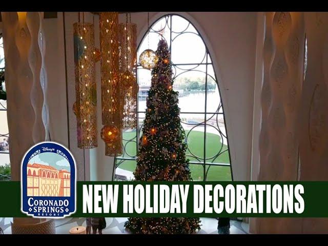 Disney's Coronado Springs Resort New Christmas Decorations - Live 1080p