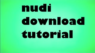 how to download and install nudi 2016