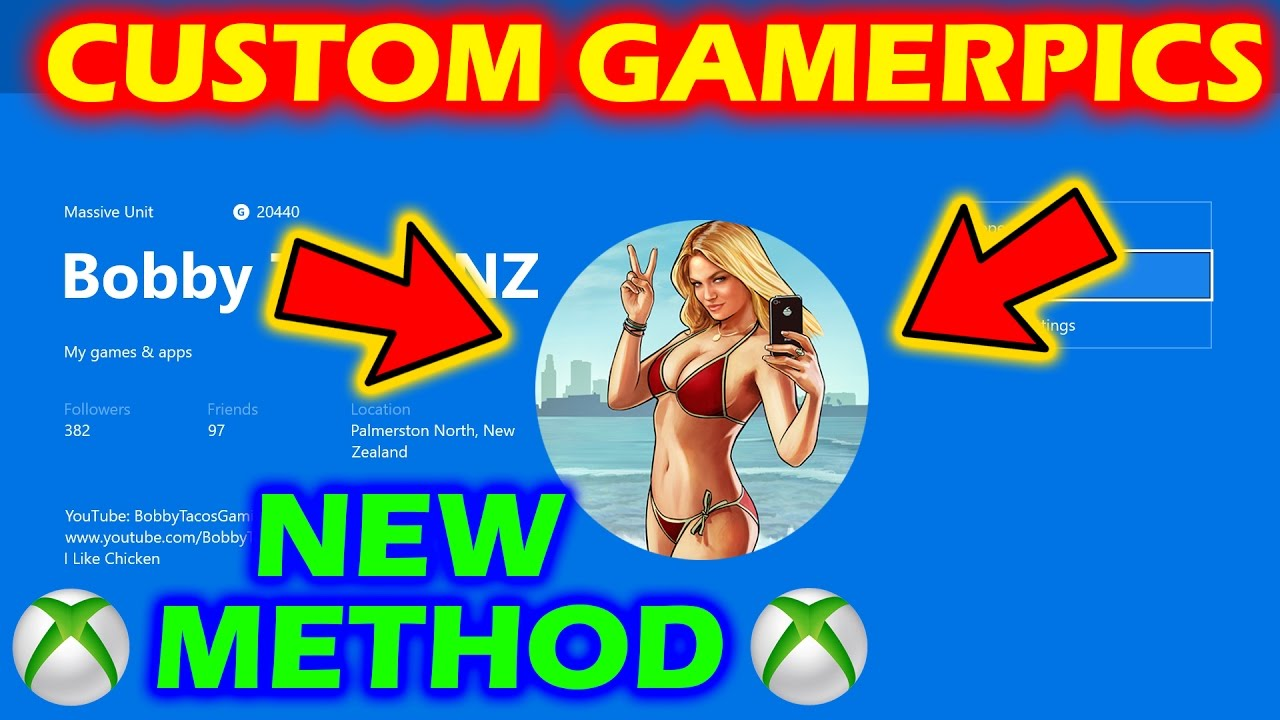 how to change your gamer picture on xbox one
