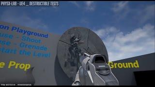 UE4 PhysX-Lab Destruction Tests
