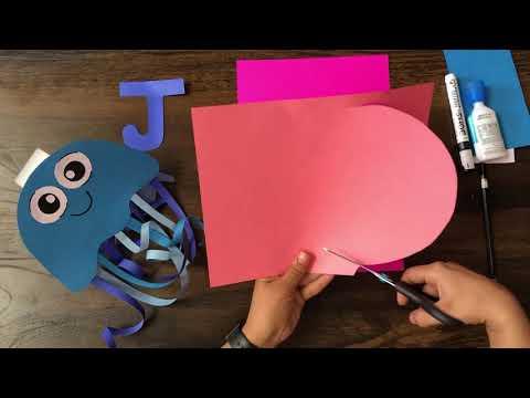 Letter J- Jellyfish Craft   Kindergartner   Easy Crafts 
