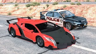 Crazy Police Chases #26 - BeamNG Drive Crashes