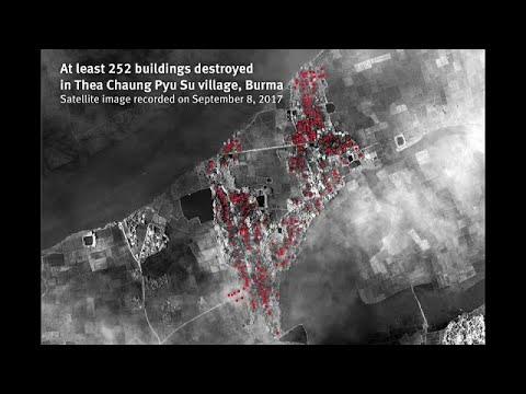 ONG revela imagens de 214 aldeias Rohingya devastadas pelo exército