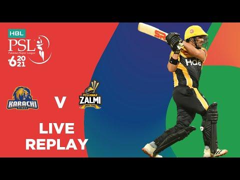 LIVE REPLAY – Karachi Kings vs Peshawar Zalmi | Match 24 | HBL PSL 6