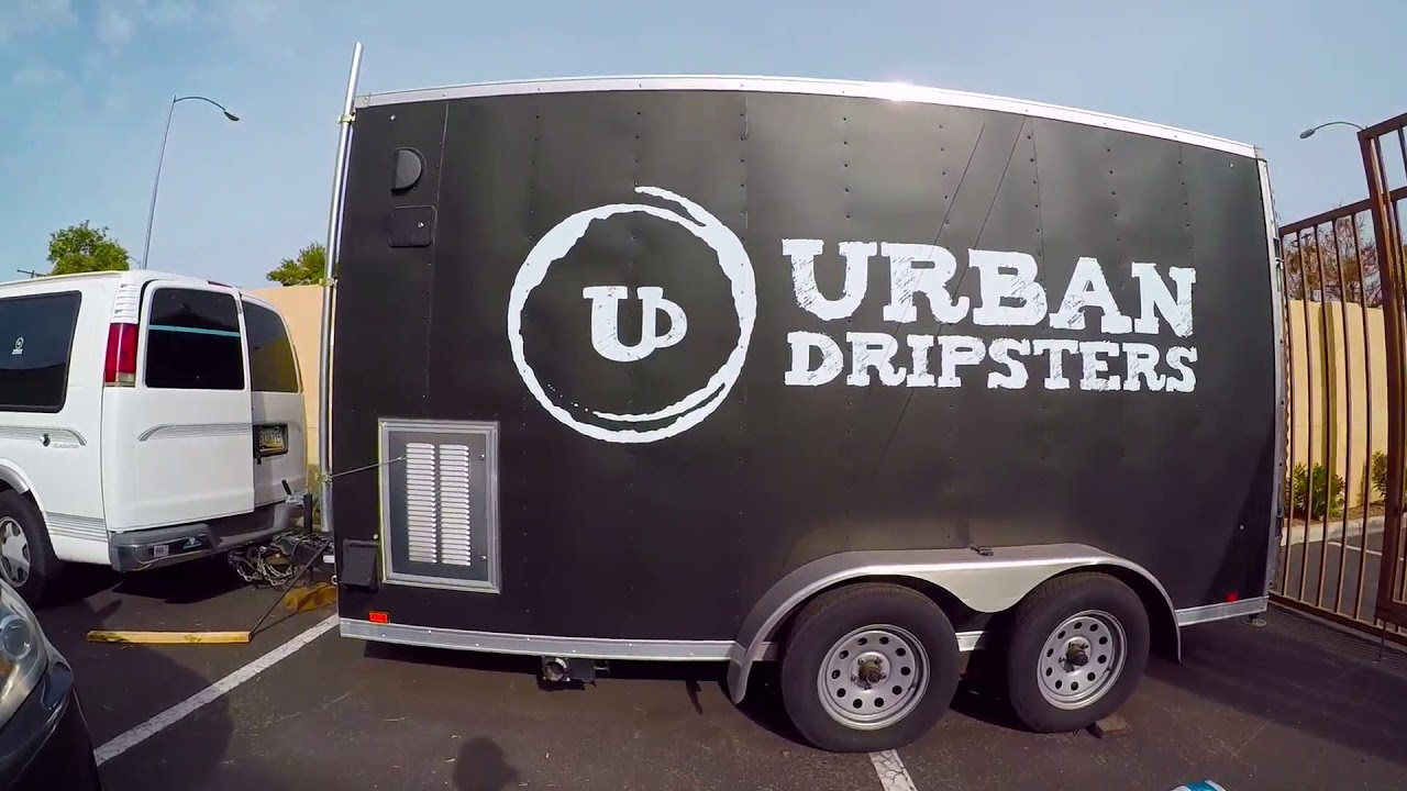 Mobile Coffee Trailer Tour By Urban Dripsters For Sale Youtube