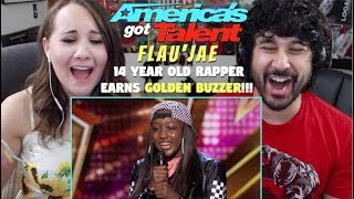Flau'jae: 14-Year-Old Rapper Earns Golden Buzzer - AMERICA'S GOT TALENT 2018 - REACTION!!!