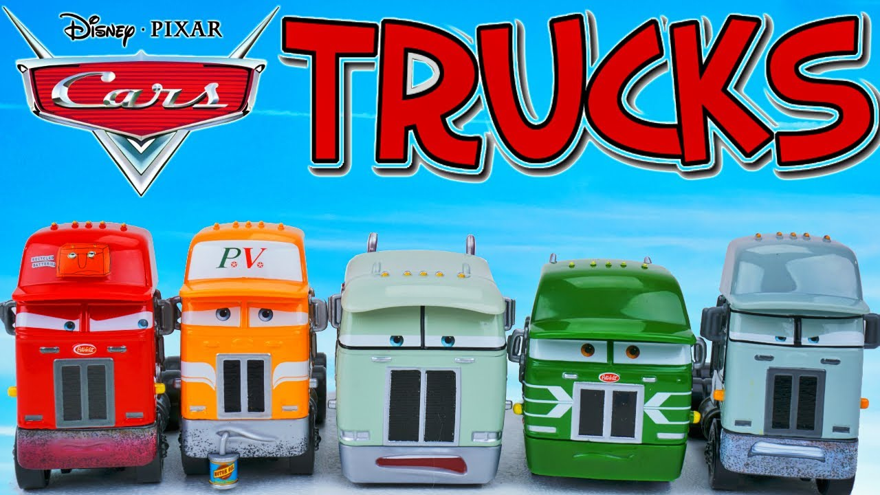 Disney Cars Truck Haulers Sleepy Piston Cup Trucks Radiator