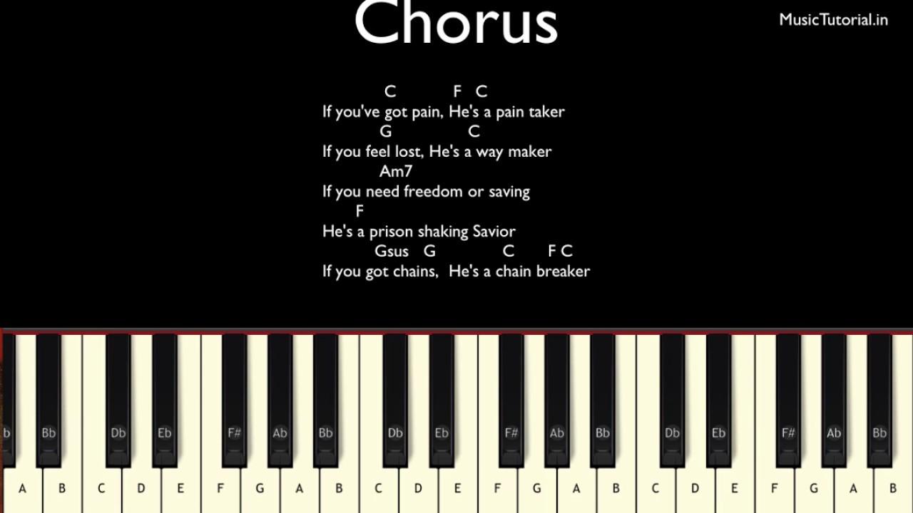 Zach williams chain breaker piano tutorial youtube hexwebz Choice Image