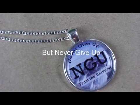 Never give up necklace men aloadofball Images