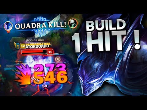 A FAMOSA BUILD DO 1 HIT, BOA PRA SUBIR ELO!  NOCTURNE JUNGLE GAMEPLAY  Festinha do Rodil