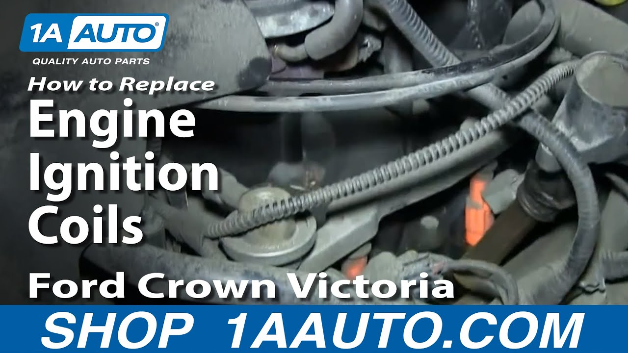 How To Install Replace Engine Ignition Coils 1998 2011 Ford Crown 98 Lincoln Town Car Wiring Diagram Victoria Youtube