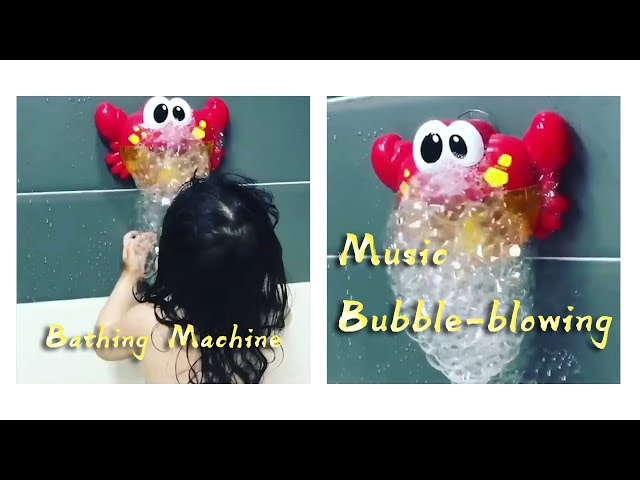Cartoon Red Creative Simulation Sea Animal Shape Bubble Big Crab Children Toy Bath Soap Machine 24 Songs Bubble Maker Strong Packing Outdoor Fun & Sports