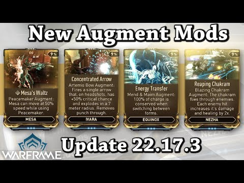 Warframe | New Augment Mods For Mesa, Ivara, Nezha & Equinox (Update 22.17.3)