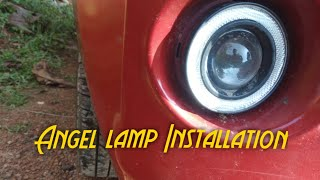 Angel Lamp / Fog lamp installation. | Car modification Video | modified cars in India
