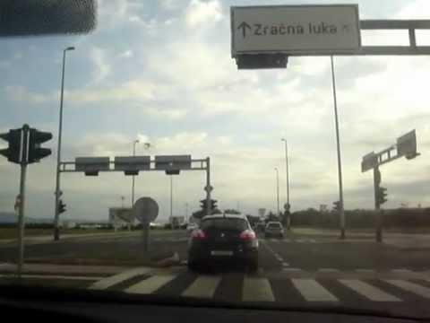 Zagreb - Velika Gorica -Croatia - Driving to airport