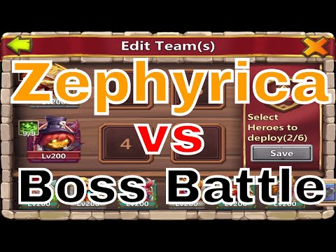 Castle Clash Zephyrica Vs. Boss Battle